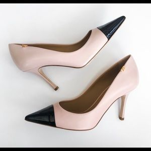 NWT Tory Burch Penelope Pumps Pink/Black